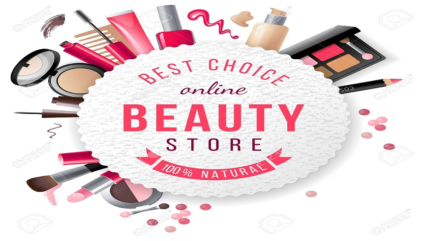 34153000-beauty-store-emblem-with-type-design-and-cosmetics-Stock-Vector
